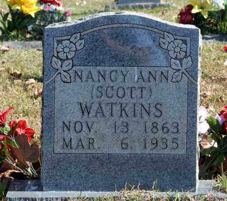 SCOTT WATKINS, NANCY ANN - Searcy County, Arkansas | NANCY ANN SCOTT WATKINS - Arkansas Gravestone Photos