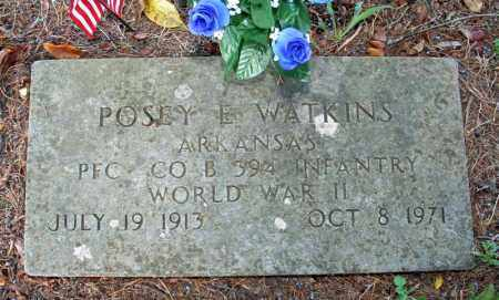 WATKINS (VETERAN WWII), POSEY E. - Searcy County, Arkansas | POSEY E. WATKINS (VETERAN WWII) - Arkansas Gravestone Photos
