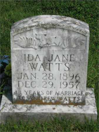 WATTS, IDA JANE - Searcy County, Arkansas | IDA JANE WATTS - Arkansas Gravestone Photos