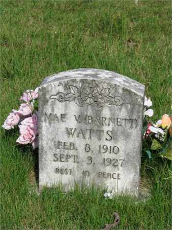 BARNETT WATTS, MAE V. - Searcy County, Arkansas | MAE V. BARNETT WATTS - Arkansas Gravestone Photos