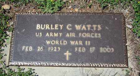 WATTS (VETERAN WWII), BURLEY C - Searcy County, Arkansas | BURLEY C WATTS (VETERAN WWII) - Arkansas Gravestone Photos