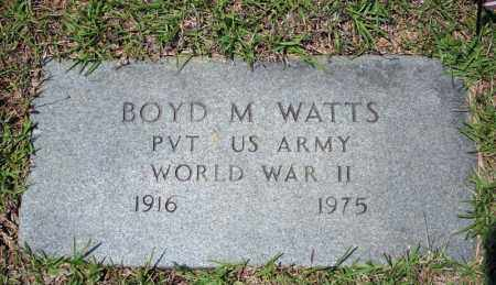 WATTS (VETERAN WWII), BOYD M - Searcy County, Arkansas | BOYD M WATTS (VETERAN WWII) - Arkansas Gravestone Photos