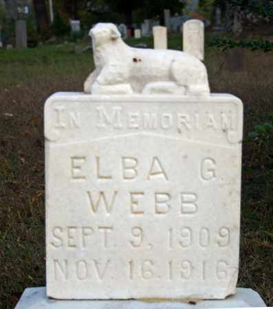 WEBB, ELBA G. - Searcy County, Arkansas | ELBA G. WEBB - Arkansas Gravestone Photos