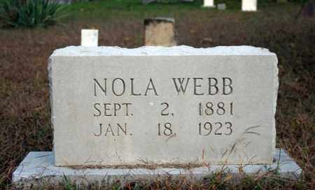 WEBB, NOLA - Searcy County, Arkansas | NOLA WEBB - Arkansas Gravestone Photos