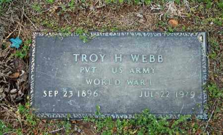WEBB (VETERAN WWI), TROY H - Searcy County, Arkansas | TROY H WEBB (VETERAN WWI) - Arkansas Gravestone Photos