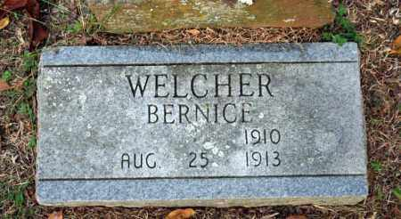 WELCHER, BERNICE - Searcy County, Arkansas | BERNICE WELCHER - Arkansas Gravestone Photos