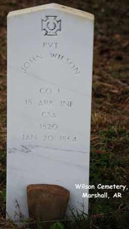 WILSON (VETERAN CSA), JOHN - Searcy County, Arkansas | JOHN WILSON (VETERAN CSA) - Arkansas Gravestone Photos