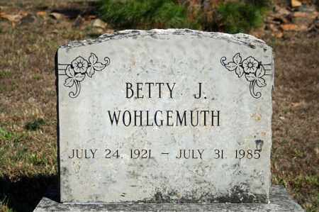 WOHLGEMUTH, BETTY J. - Searcy County, Arkansas | BETTY J. WOHLGEMUTH - Arkansas Gravestone Photos