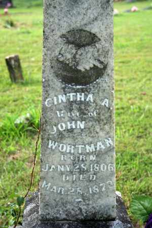 WORTMAN, CINTHA A. - Searcy County, Arkansas | CINTHA A. WORTMAN - Arkansas Gravestone Photos