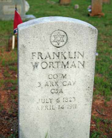 WORTMAN  (VETERAN CSA), FRANKLIN - Searcy County, Arkansas | FRANKLIN WORTMAN  (VETERAN CSA) - Arkansas Gravestone Photos