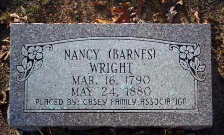 BARNES WRIGHT, NANCY - Searcy County, Arkansas | NANCY BARNES WRIGHT - Arkansas Gravestone Photos