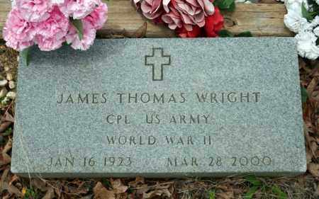 WRIGHT (VETERAN WWII), JAMES THOMAS - Searcy County, Arkansas | JAMES THOMAS WRIGHT (VETERAN WWII) - Arkansas Gravestone Photos