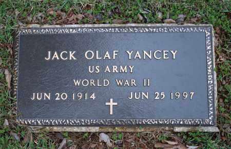 YANCEY (VETERAN WWII), JACK OLAF - Searcy County, Arkansas | JACK OLAF YANCEY (VETERAN WWII) - Arkansas Gravestone Photos
