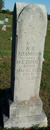 ADAMSON, N  R - Sebastian County, Arkansas | N  R ADAMSON - Arkansas Gravestone Photos