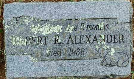 ALEXANDER, ROBERT R - Sebastian County, Arkansas | ROBERT R ALEXANDER - Arkansas Gravestone Photos