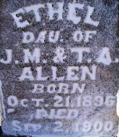 ALLEN, ETHEL (CLOSE UP - Sebastian County, Arkansas | ETHEL (CLOSE UP ALLEN - Arkansas Gravestone Photos