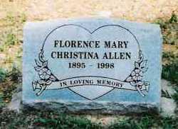 ALLEN, FLORENCE MARY CHRISTINA - Sebastian County, Arkansas | FLORENCE MARY CHRISTINA ALLEN - Arkansas Gravestone Photos