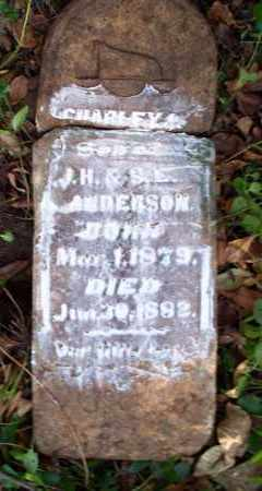 ANDERSON, CHARLEY - Sebastian County, Arkansas | CHARLEY ANDERSON - Arkansas Gravestone Photos