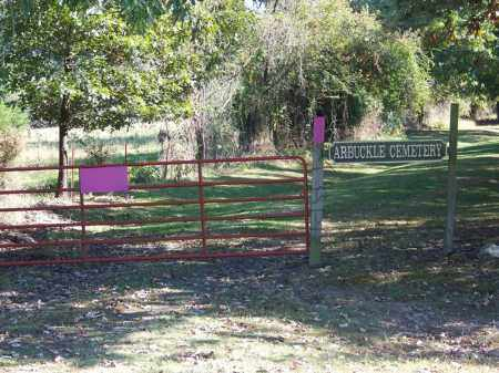 *ARBUCKLE CEMETERY GATE,  - Sebastian County, Arkansas |  *ARBUCKLE CEMETERY GATE - Arkansas Gravestone Photos