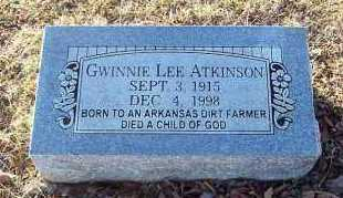ATKINSON, GWINNIE LEE - Sebastian County, Arkansas | GWINNIE LEE ATKINSON - Arkansas Gravestone Photos