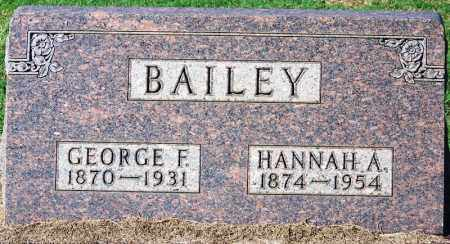 BAILEY, GEORGE F. - Sebastian County, Arkansas | GEORGE F. BAILEY - Arkansas Gravestone Photos