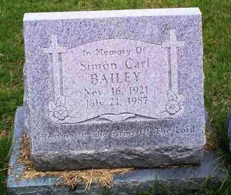BAILEY, SIMON CARL - Sebastian County, Arkansas | SIMON CARL BAILEY - Arkansas Gravestone Photos