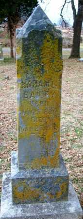 BAILEY, SARAH L - Sebastian County, Arkansas | SARAH L BAILEY - Arkansas Gravestone Photos