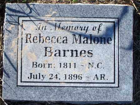 BARNES, REBECCA MALONE - Sebastian County, Arkansas | REBECCA MALONE BARNES - Arkansas Gravestone Photos