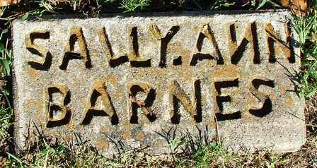 BARNES, SALLY ANN - Sebastian County, Arkansas | SALLY ANN BARNES - Arkansas Gravestone Photos