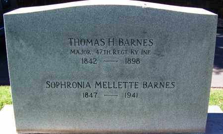 BARNES (VETERAN UNION), THOMAS H - Sebastian County, Arkansas | THOMAS H BARNES (VETERAN UNION) - Arkansas Gravestone Photos