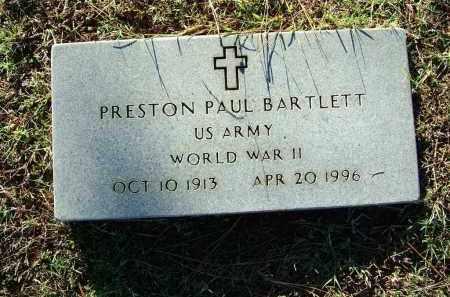 BARTLETT (VETERAN WWII), PRESTON PAUL - Sebastian County, Arkansas | PRESTON PAUL BARTLETT (VETERAN WWII) - Arkansas Gravestone Photos