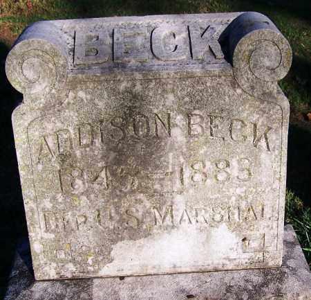 BECK  (VETERAN CSA) (FAMOUS), ADDISON - Sebastian County, Arkansas | ADDISON BECK  (VETERAN CSA) (FAMOUS) - Arkansas Gravestone Photos