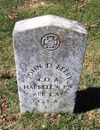 BERRY (VETERAN CSA), JOHN D - Sebastian County, Arkansas | JOHN D BERRY (VETERAN CSA) - Arkansas Gravestone Photos