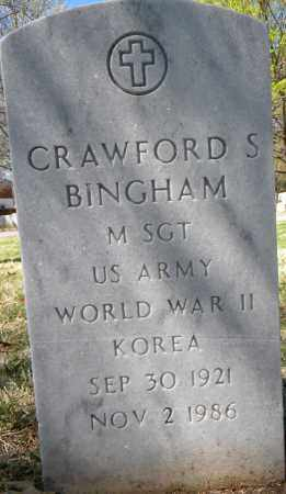 BINGHAM (VETERAN 2 WARS), CRAWFORD S - Sebastian County, Arkansas | CRAWFORD S BINGHAM (VETERAN 2 WARS) - Arkansas Gravestone Photos