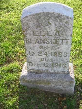 BLANSCETT, ELLA - Sebastian County, Arkansas | ELLA BLANSCETT - Arkansas Gravestone Photos