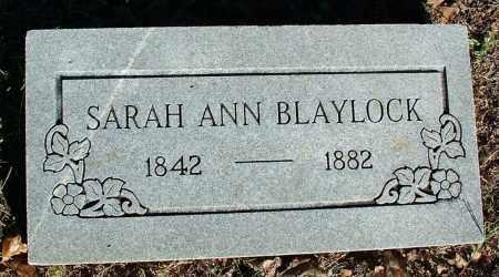 BLAYLOCK, SARAH ANN - Sebastian County, Arkansas | SARAH ANN BLAYLOCK - Arkansas Gravestone Photos