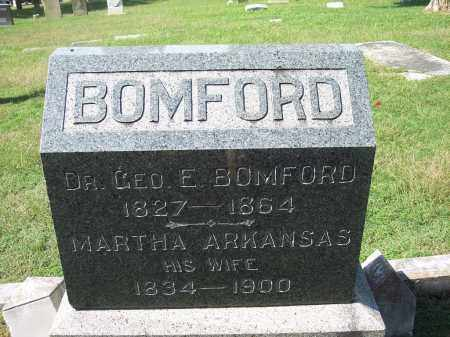 BOMFORD, DR., GEORGE ERVING - Sebastian County, Arkansas | GEORGE ERVING BOMFORD, DR. - Arkansas Gravestone Photos
