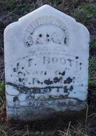 BOOTH, J F - Sebastian County, Arkansas | J F BOOTH - Arkansas Gravestone Photos
