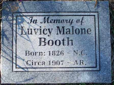 BOOTH, LUVICY MALONE - Sebastian County, Arkansas | LUVICY MALONE BOOTH - Arkansas Gravestone Photos