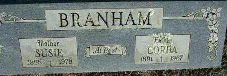 BRANHAM, SUSIE - Sebastian County, Arkansas | SUSIE BRANHAM - Arkansas Gravestone Photos