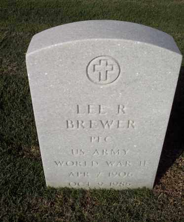 BREWER (VETERAN WWII), LEE R - Sebastian County, Arkansas | LEE R BREWER (VETERAN WWII) - Arkansas Gravestone Photos