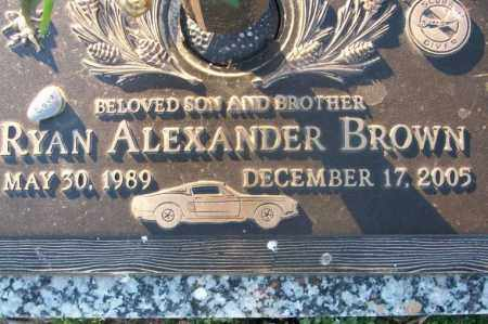 BROWN, RYAN ALEXANDER - Sebastian County, Arkansas | RYAN ALEXANDER BROWN - Arkansas Gravestone Photos