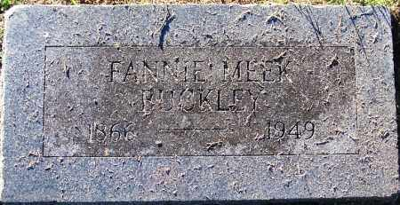 MEEK BUCKLEY, FANNIE - Sebastian County, Arkansas | FANNIE MEEK BUCKLEY - Arkansas Gravestone Photos