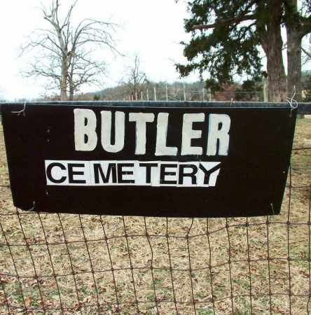 *BUTLER CEMETERY SIGN,  - Sebastian County, Arkansas |  *BUTLER CEMETERY SIGN - Arkansas Gravestone Photos
