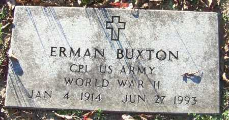BUXTON (VETERAN WWII), ERMAN - Sebastian County, Arkansas | ERMAN BUXTON (VETERAN WWII) - Arkansas Gravestone Photos