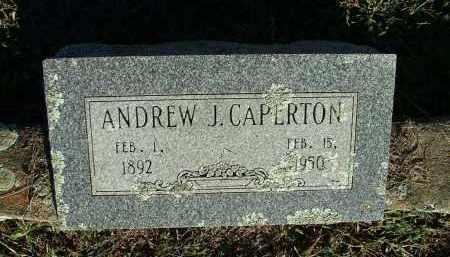 CAPERTON, ANDREW J - Sebastian County, Arkansas | ANDREW J CAPERTON - Arkansas Gravestone Photos