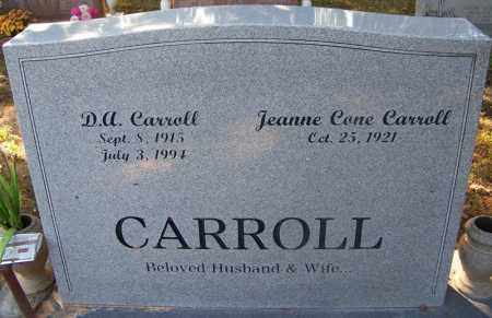 CARROLL, D. A. - Sebastian County, Arkansas   D. A. CARROLL - Arkansas Gravestone Photos