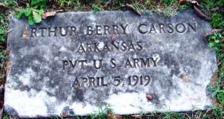 CARSON (VETERAN), ARTHUR BERRY - Sebastian County, Arkansas | ARTHUR BERRY CARSON (VETERAN) - Arkansas Gravestone Photos