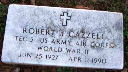 CAZZELL (VETERAN WWII), ROBERT J - Sebastian County, Arkansas | ROBERT J CAZZELL (VETERAN WWII) - Arkansas Gravestone Photos