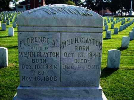BARNES CLAYTON, FLORENCE A - Sebastian County, Arkansas | FLORENCE A BARNES CLAYTON - Arkansas Gravestone Photos